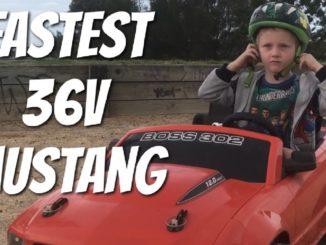 Fastest 36v Modified Power Wheels Mustang Drifting.Best Elec...