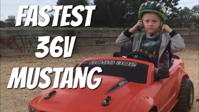 Fastest 36v Modified Power Wheels Mustang Drifting.Best Elec...