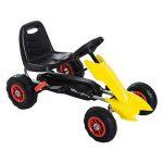 Aosom Kids Pedal Powered Ride On Go Kart Racer w/ Hand Brake…