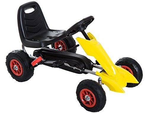 Aosom Kids Pedal Powered Ride On Go Kart Racer w/ Hand Brake...