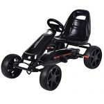 Costzon Go Kart, 4 Wheel Powered Racer Outdoor Toy, Kids Rid…