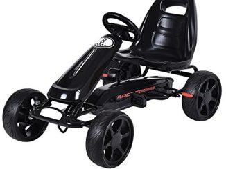 Costzon Go Kart, 4 Wheel Powered Racer Outdoor Toy, Kids Rid...