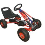 Racing Pedal Go-Kart w/ Pneumatic Tire – Blue