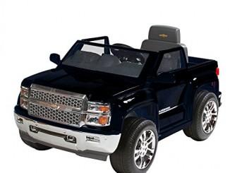 Rollplay Chevy Silverado 6-Volt Battery-Powered Ride-On, Bla...