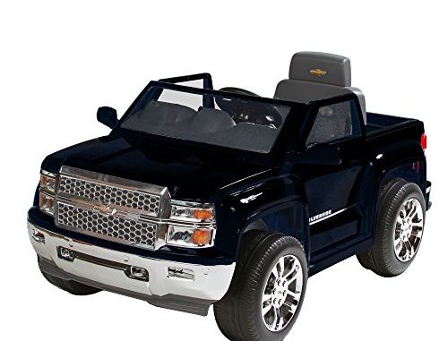 Rollplay Chevy Silverado 6-Volt Battery-Powered Ride-On, Bla...
