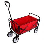 Teekland Folding Garden Wagon, Collapsible Utility Cart Shop…