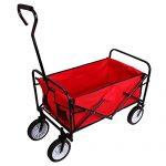 Teekland Folding Garden Wagon, Collapsible Utility Cart Shop…