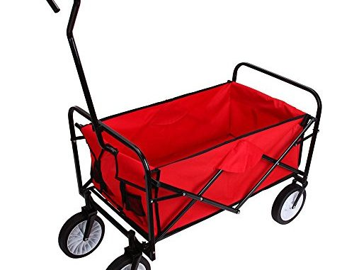 Teekland Folding Garden Wagon, Collapsible Utility Cart Shop...