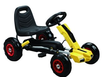 Vroom Rider Power Pedal Go-Kart Ride Ons with Pneumatic Tire...