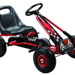 Vroom Rider Racing Pedal Go-Kart Ride Ons with Pneumatic Tir…