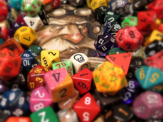 3lbs of dice and a drawing by Tony DiTerlizzi