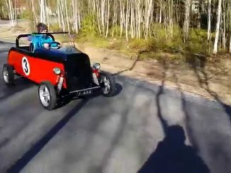 DIY kids Hot Rod electrically-assisted pedal car