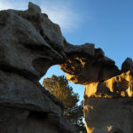 Granite arch with morning light