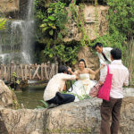 A popular wedding photo shoot at Dream World  Amus…
