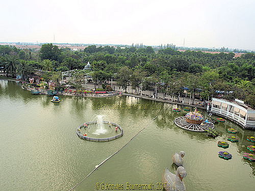 Views from the chair Lift at Dream World Amusement Park in February 2010, Thanyaburi District, Pathum Thani Province, Thailand.
