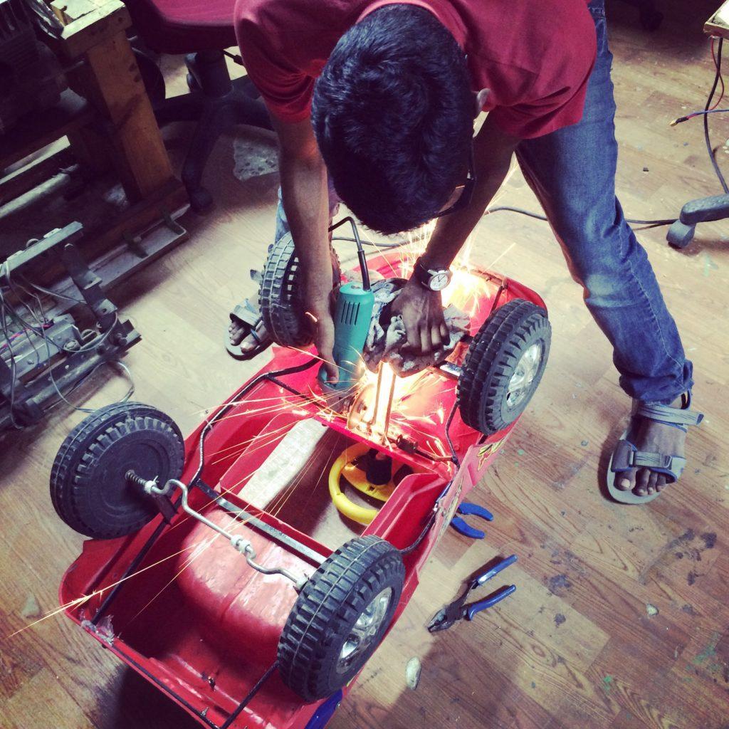 Modifying Children pedal car   UAGV 01