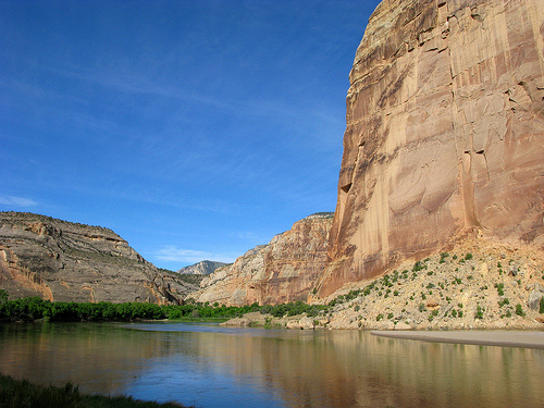 Steamboat Rock and Green River