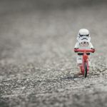 storm trooper riding bicycle